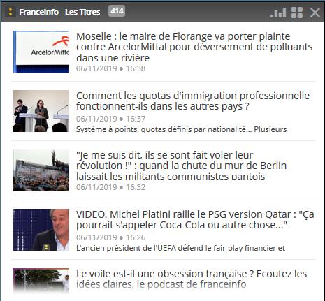 Flux RSS franceinfo.fr